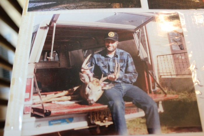 A photo of Mike Harden and a deer that he shot during a deer season years ago. Jessica Boehm